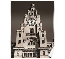 Liver Building in Sepia Poster