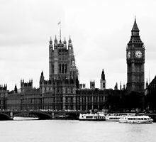 Westminster Palace and Big Ben by pda1986