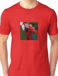 Close-Up Of A Green-Winged Macaw Unisex T-Shirt