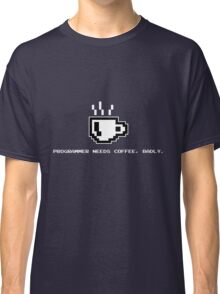 Programmer Needs Food Badly Dark Classic T-Shirt