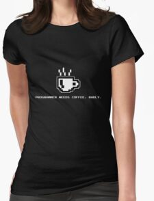 Programmer Needs Food Badly Dark Womens Fitted T-Shirt