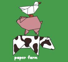 Paper farm - stack Kids Tee