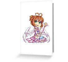 Chibi Sakura Greeting Card