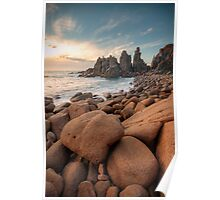 Granite Marbles - The Pinnacles, Phillip Island, Victoria, Australia Poster
