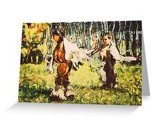 Two Little Indians Greeting Card