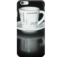 Mocha Coffee Cup Fine Art Black and White Photography iPhone Case/Skin