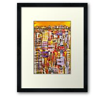 Talk of the town Framed Print