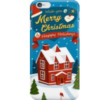 Merry Christmas house  iPhone Case/Skin