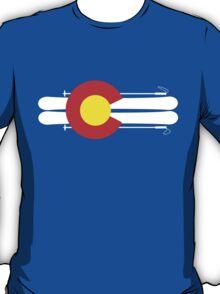 Colorado Flag Skis T-Shirt