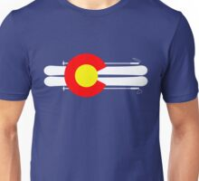 Colorado Flag Skis Unisex T-Shirt