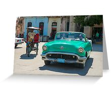 grunge classic American car. Greeting Card