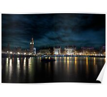 The Thames @ Night Poster