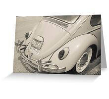 Old Volkwagen Beetle back end. Greeting Card