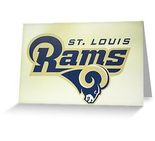 St Louis Rams Greeting Card