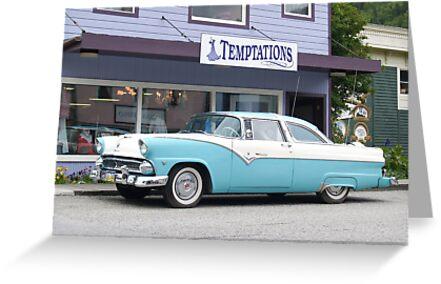 Classic American Car parked in Skagway street, Alaska. by brians101