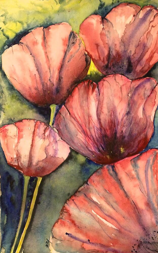 Paper petals by Vandy Massey