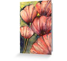 Paper petals Greeting Card