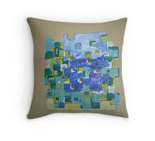 Earth Squared  Throw Pillow