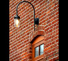 Light Fixture Above An Entrance Door - Port Jefferson, New York by © Sophie W. Smith