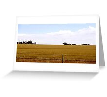 Plains of gold Greeting Card
