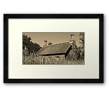Back to the past | A Cottage in the Gardens Framed Print