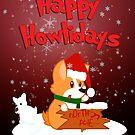 Happy Howlidays - Red w/ Text by jlechuga