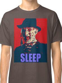 "Freddy Krueger ""SLEEP"" A Nightmare On Elm Street Parody  Classic T-Shirt"