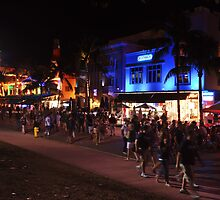 A Friday Evening on Ocean Drive Blvd, Miami Beach, Florida by 242Digital