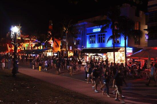 A Friday Evening on Ocean Drive Blvd, Miami Beach, Florida by 242Digital
