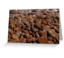 Abstract stones washed and round on beach. Greeting Card