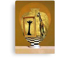 Giraffe In A Jar Canvas Print