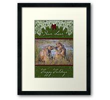 Loving Couple Happy Holidays Framed Print