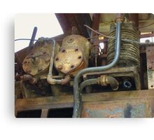 Rusted Machinery Canvas Print