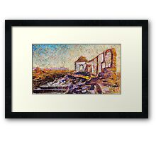 The road from Leigh Creek south past Wilpena Pound, South Australia Framed Print
