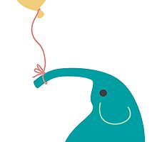 Elephant with Balloon by AmyEli