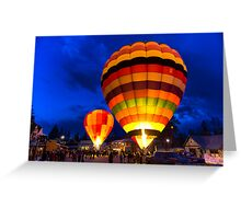 2013 Winthrop Balloon Roundup Balloon Glow Greeting Card
