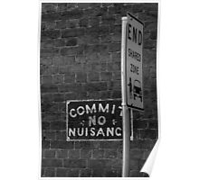 Commit No Nuisance.... And Do Not Share Poster