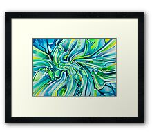 Dynamic Ever-Present Pull - Watercolor Painting Framed Print