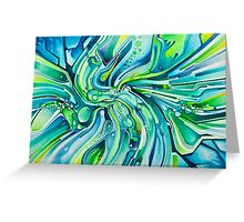 Dynamic Ever-Present Pull - Watercolor Painting Greeting Card
