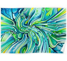 Dynamic Ever-Present Pull - Watercolor Painting Poster