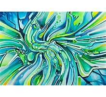 Dynamic Ever-Present Pull - Watercolor Painting Photographic Print