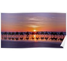 Ships in the Desert, Cable Beach Poster