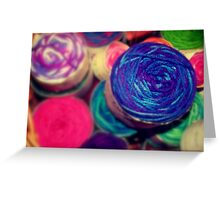 Bright Balls of Wool Greeting Card