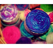 Bright Balls of Wool Photographic Print