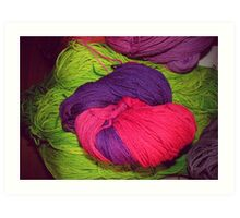 Bright Ball of Wool Knot Art Print