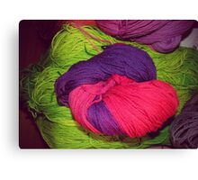 Bright Ball of Wool Knot Canvas Print