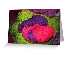 Bright Ball of Wool Knot Greeting Card
