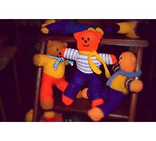 Knitted Teddy Bears Photographic Print