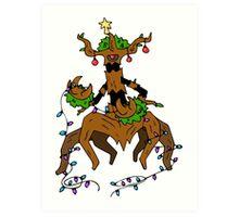 Pokemon Christmas Art Print