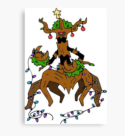 Pokemon Christmas Canvas Print